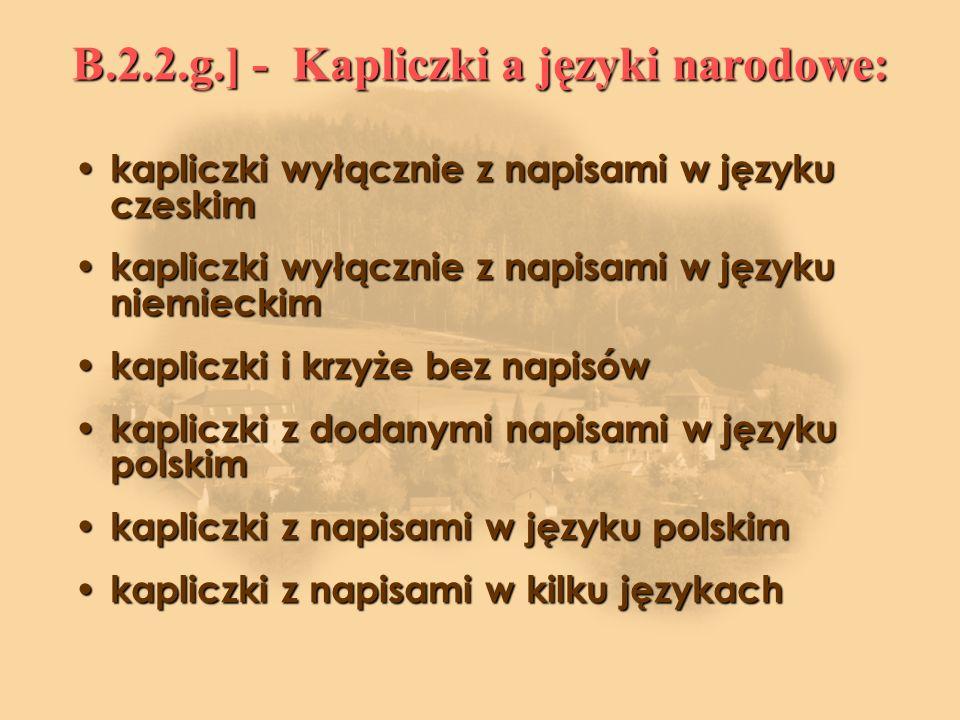 B.2.2.g.] - Kapliczki a języki narodowe: